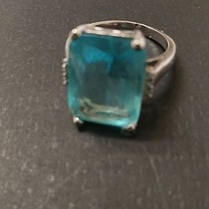 Sterling silver ring topaz stone